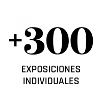 Mas de 300 exposiciones individuales